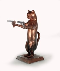 Rebel With The Paws (Bobby Black) by Maxim - Original Sculpture sized 12x17 inches. Available from Whitewall Galleries